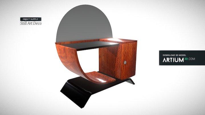 Beauty table – Art Deco 1920 3D Model