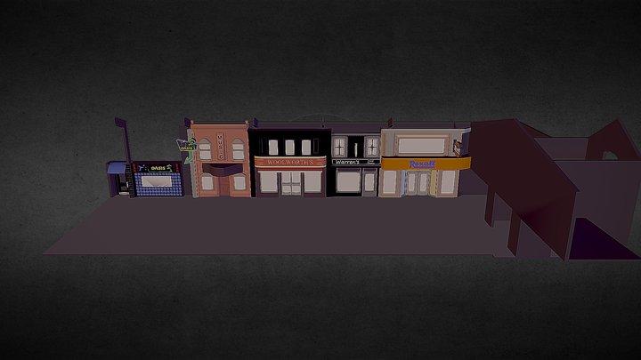 Main Street STL 3D Model