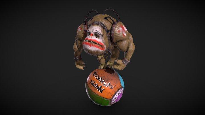 Monster Clown 3D Model