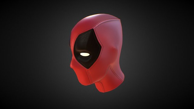 DeadPool - head Hi-poly 3D Model