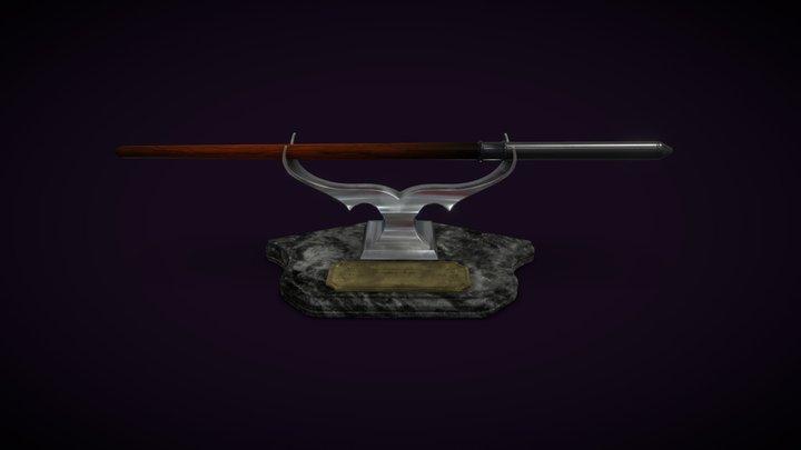 Draco Malfoy's Wand 3D Model