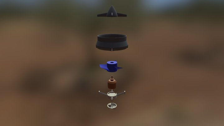 water thruster exploded 3D Model