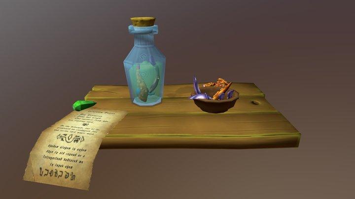 Witch Potion Stylized 3D Model
