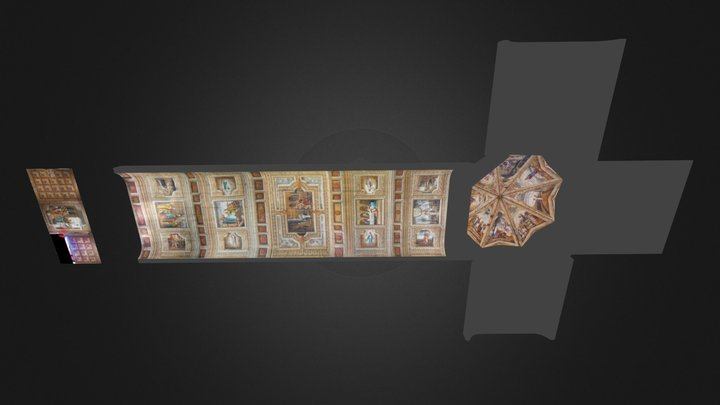 Cortes Church Ceiling Paintings 3D Model