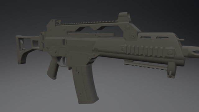 G36c Low Res (Game optimized) 3D Model