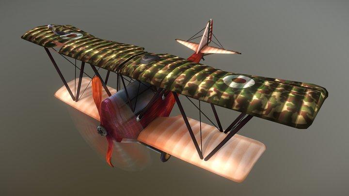 Handpainted WW1 Aircraft  - Ansaldo SVA 5 3D Model