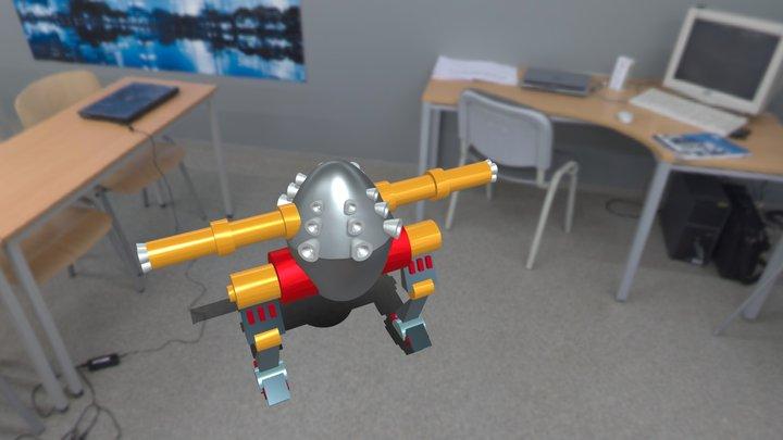 Koşan Mecha robot 3D Model