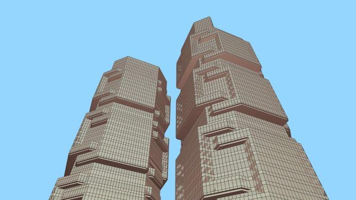 Hongkong Lippo Building 01 3D Model
