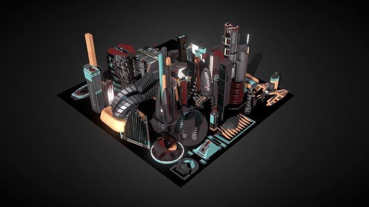 35 Futuristic Buldings Vol3 3D Model