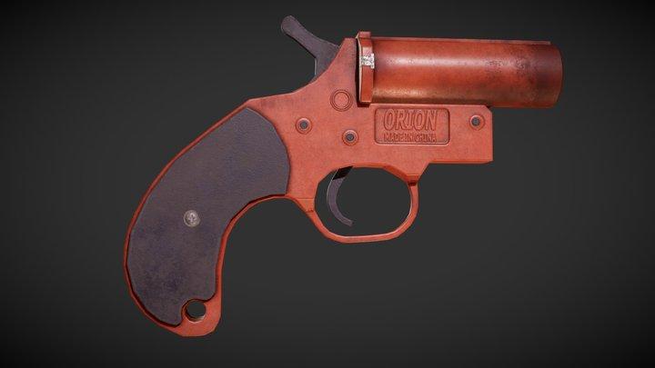Flare-gun 3D Model