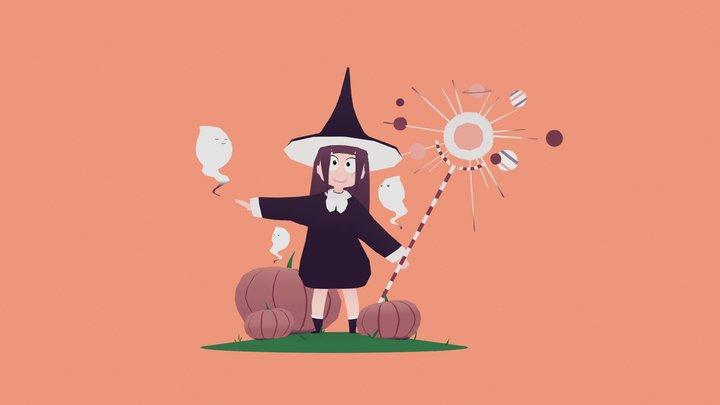 Spooky Witch 3D Model