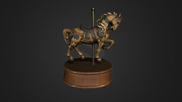 Horse Sculpture Color Scan 3D Model