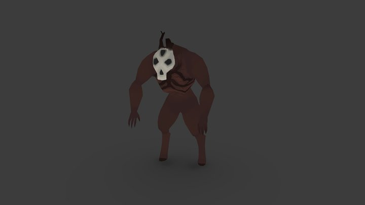 Lowpoly Creature concept 3D Model