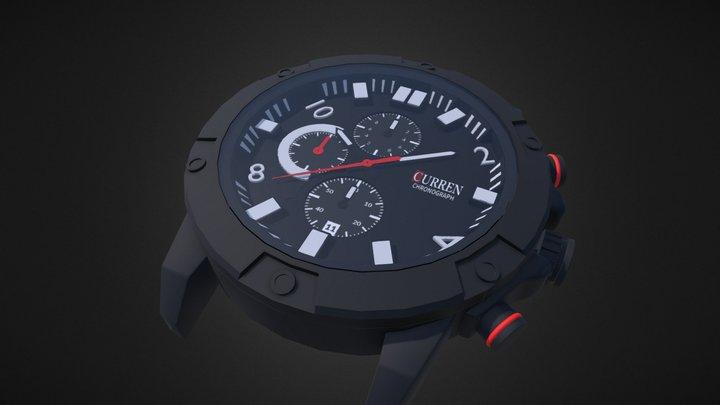 Curren 8285 Watch 3D Model