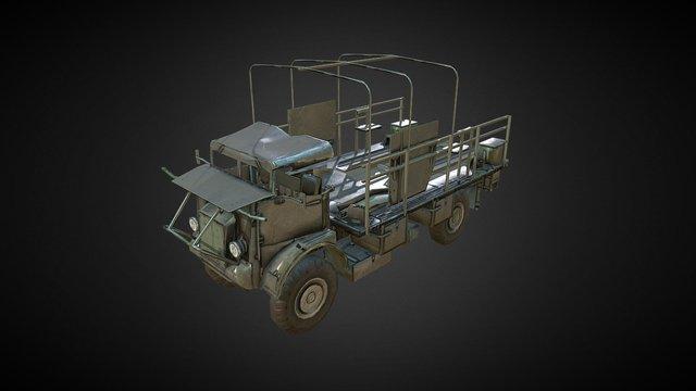 Military British Bedford 3D Model