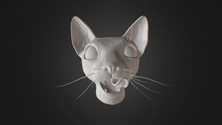 Cat Bust 3D Model