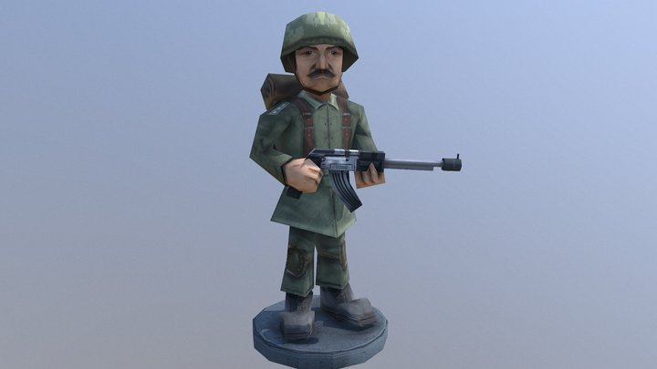 Lowpoly Soldier Rigged 3D 3D Model