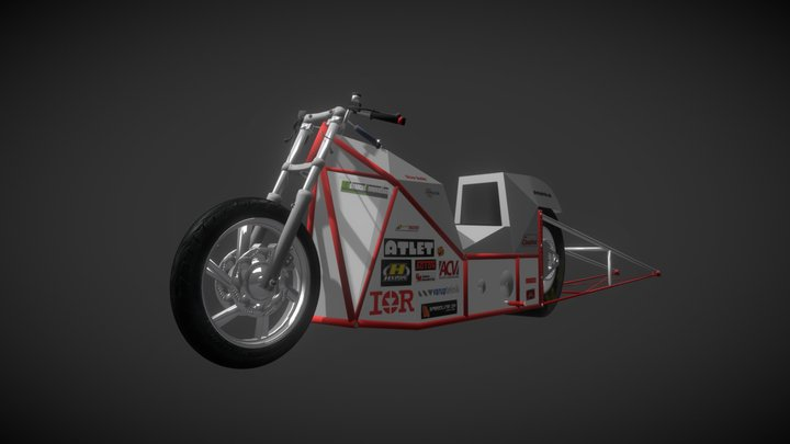 Electric Dragster Bike 3D Model