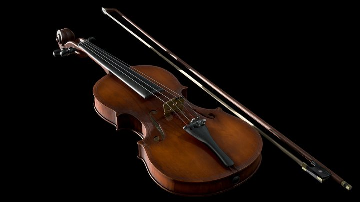 Old Maggini Violin 3D Model
