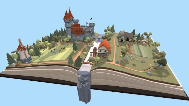 Medieval Fantasy Book 3D Model