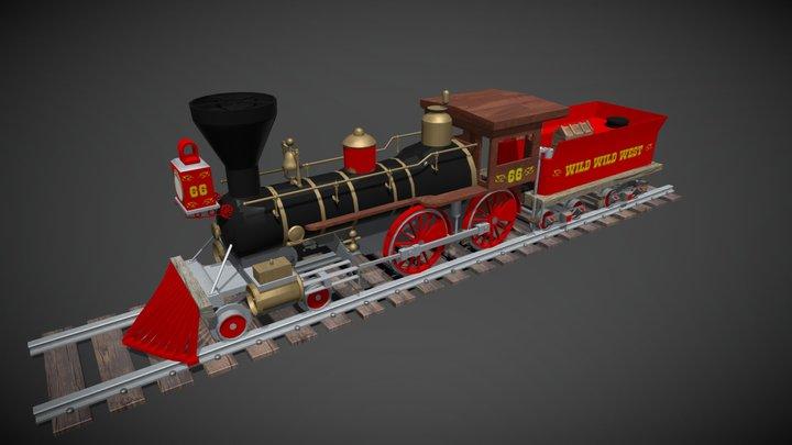 Train Vapeur 3D Model