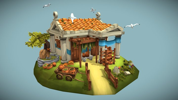 Aphaea's Olive Press & Pottery 3D Model