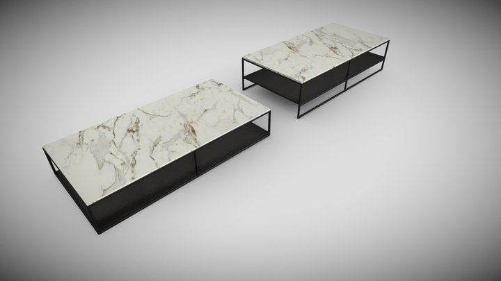 Liam Coffee Table by Minotti 3D Model
