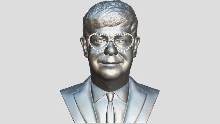 Elton John bust for 3D printing 3D Model