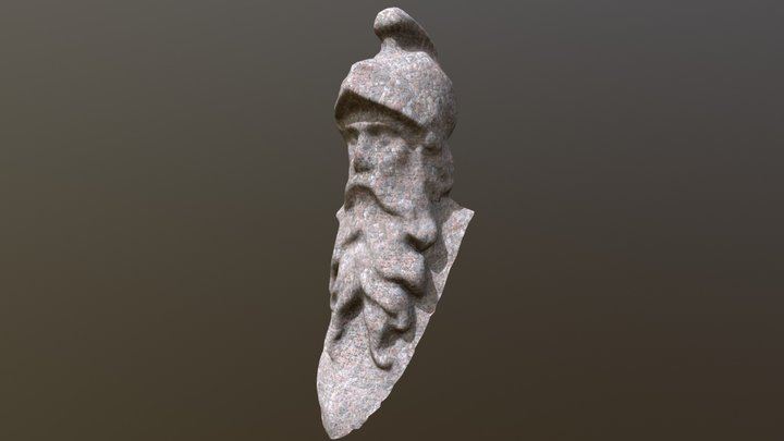 Head of the fountain of Loyalty Fribourg 3D Model