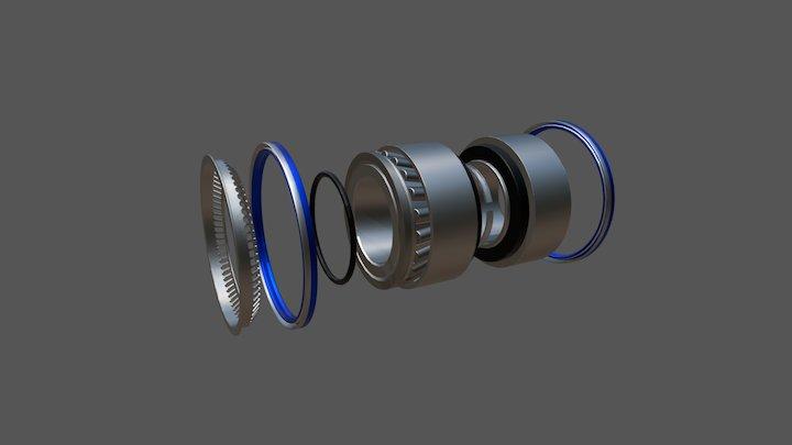 Ремкомплект ступицы SAF 3434301800 3D Model