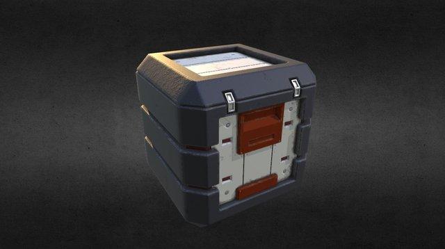 Science Fiction Crate 3D Model