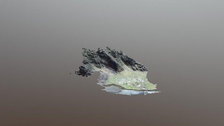 Tristan da Cunha - Edinburgh of the seven Seas 3D Model