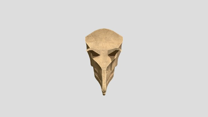 Low Poly Triceratops Skull 3D Model