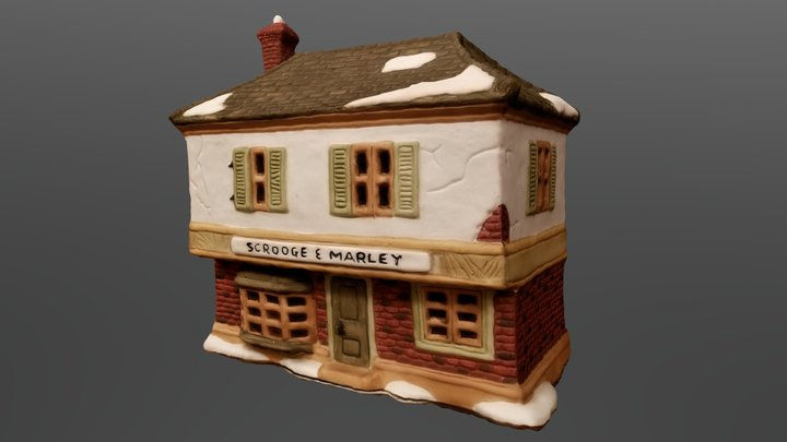 Scrooge and Marley Christmas House 3D Model