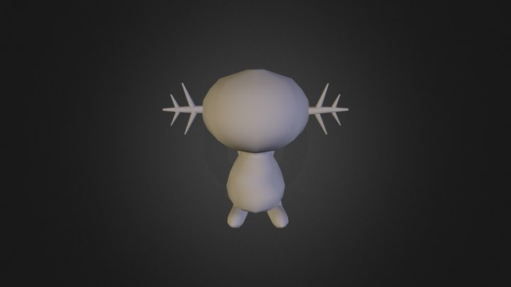 Smooth Wooper 3D Model