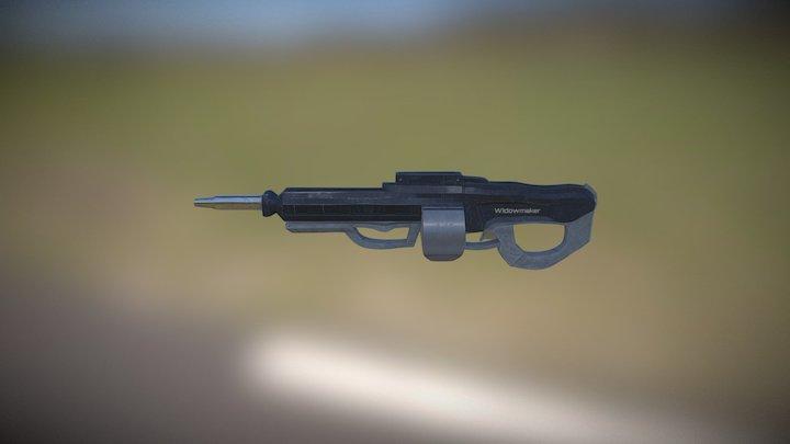 Futuristic LMG 3D Model