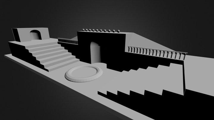 Blender 3D stairs 3D Model