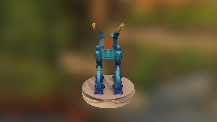 Four Legged Robot 3D Model