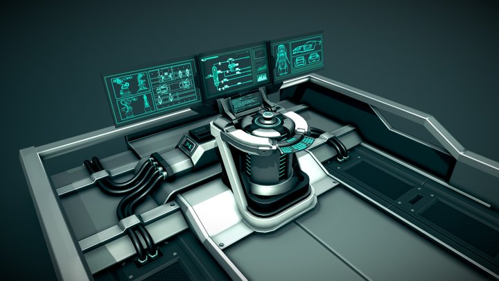 CONTROL PANEL / Console - Futuristic Car Factory 3D Model