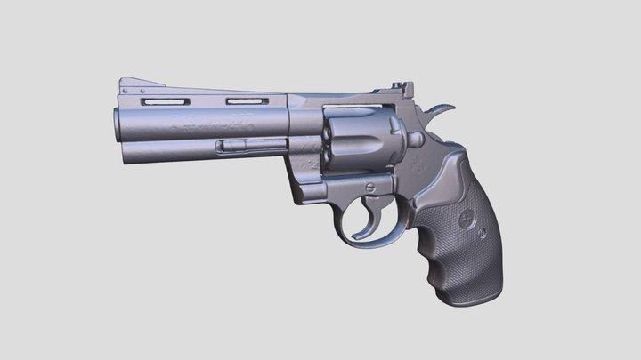Real Colt Phyton Magnum 3D Scan 3D Model