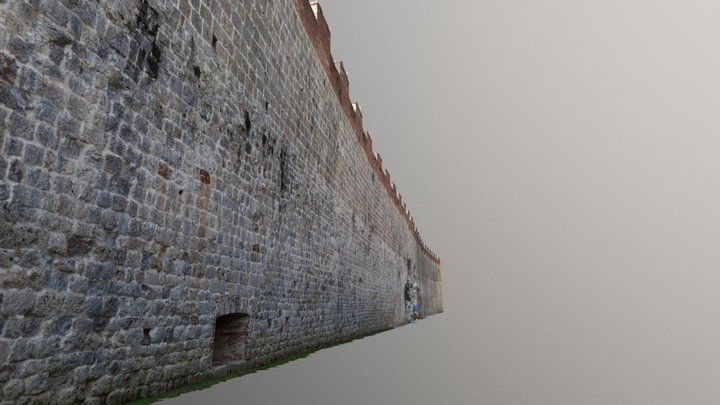 The Medieval Walls of Pisa - part I 3D Model