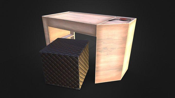 Minimal Modern Vanity Table 3D Model