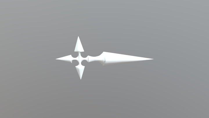 Larxene Knife - stand coming soon 3D Model