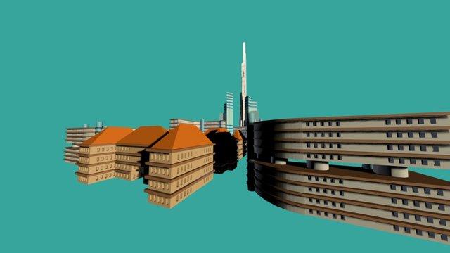 Stadtplanung Mix 3D Model