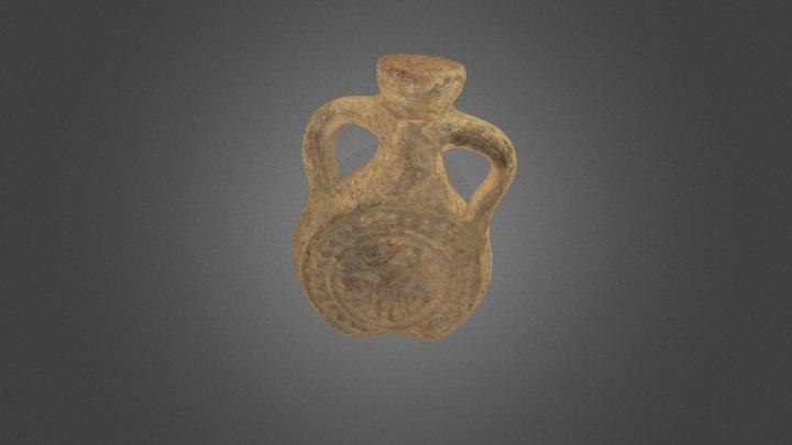 Pilgrim Flask Depicting Saint Menas 3D Model
