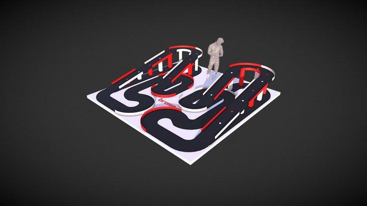 RC Race track 3D Model