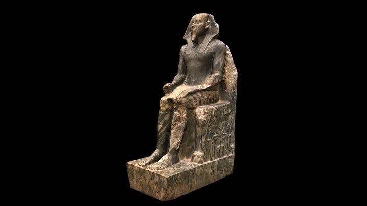 Statue of Khafre, Egyptian Museum, Cairo 3D Model