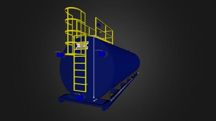 TANQUE CILINDRICO / ROUND SKID TANK 3D Model