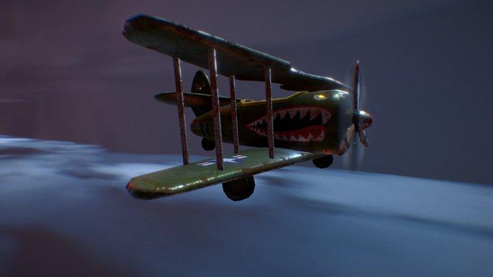 WWII Cartoon Plane FREE 3D Model