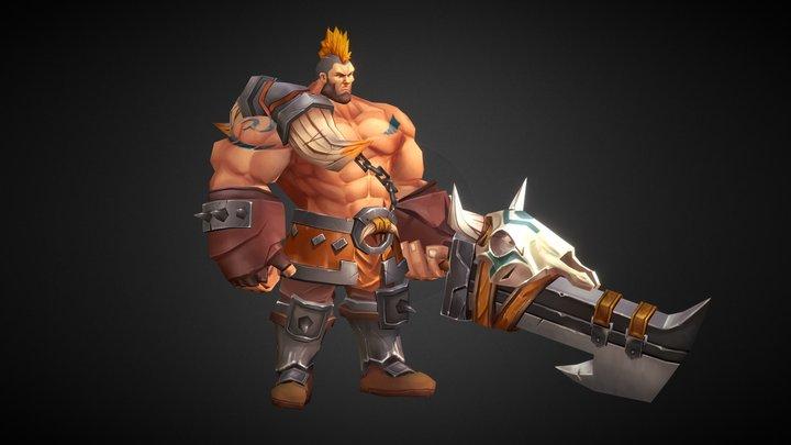 hero and big sword 3D Model